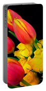 Easter Tulips And Roses Portable Battery Charger