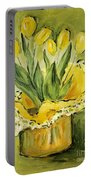 Easter Tulips Portable Battery Charger by Maria Langgle