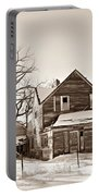 Eastern Montana Farmhouse Sepia Portable Battery Charger