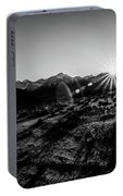 Eastern Sierra Sunset In Monochrome Portable Battery Charger