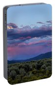 Eastern Sky At Sunset - Taos New Mexico Portable Battery Charger