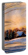 Eastern Townships In Winter Portable Battery Charger