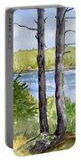 Eastport Maine Coastal Afternoon Portable Battery Charger