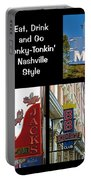 Eat, Drink And Go Honky-tonkin' Nashville Style Portable Battery Charger