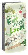 Eat Local  Portable Battery Charger
