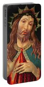 Ecce Homo Or The Redeemer Portable Battery Charger by Botticelli