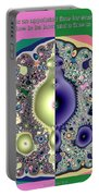 Ecclesiastes 3 A Time To Be Born And A Time To Die Fractal Portable Battery Charger