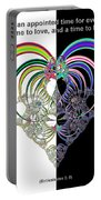 Ecclesiastes 3 A Time To Love And A Time To Hate Fractal Portable Battery Charger
