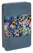 Echinacea Cone Flower Art Portable Battery Charger