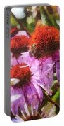 Echinacea Watercolor 2015 Portable Battery Charger