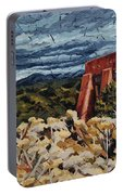 Echoes Of Tularosa, Museum Hill, Santa Fe, Nm Portable Battery Charger