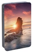 Ecola State Park Beach Sunset Pano Portable Battery Charger