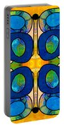 Edible Extremes Abstract Bliss Art By Omashte Portable Battery Charger