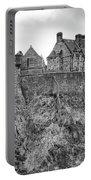 Edinburgh Castle Bw Portable Battery Charger