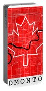 Edmonton Street Map - Edmonton Canada Road Map Art On Canada Flag Symbols Portable Battery Charger