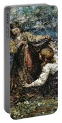 Edward Atkinson Hornel 1864 - 1933 The Butterfly Catchers Portable Battery Charger