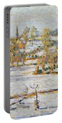 Effect Of Snow At Eragny Portable Battery Charger by Camille Pissarro