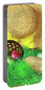 Eggs And A Bonnet For Easter Portable Battery Charger