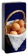 Eggs In A Wicker Basket. Portable Battery Charger