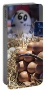 Eggsactly What You Are Looking For - La Bouqueria - Barcelona Spain Portable Battery Charger