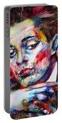 Egon Schiele - Watercolor Portrait.2 Portable Battery Charger