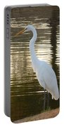 Egret At Waters Edge Portable Battery Charger
