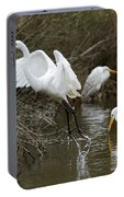 Egret Exit Portable Battery Charger by George Randy Bass