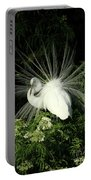 Egret Fan Dancer Portable Battery Charger