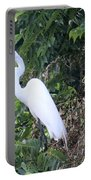 Egret In A Tree Portable Battery Charger