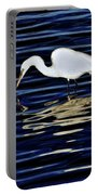 Egret In Blue Portable Battery Charger