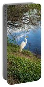 Egret In Florida Color Portable Battery Charger