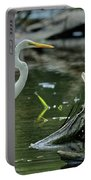 Egret In The Swamp Portable Battery Charger