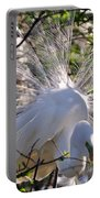 Egret In The Thicket Portable Battery Charger