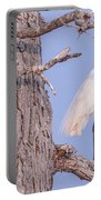 Egret In Tree Portable Battery Charger