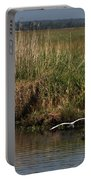 Egret On The Bayou Portable Battery Charger