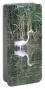 Egret On The Hunt Portable Battery Charger