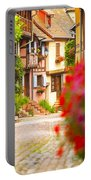 Half-timbered House, Eguisheim, Alsace, France  Portable Battery Charger