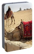 Egypt - Camel Getting Ready For The Ride Portable Battery Charger