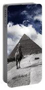 Egypt - Clouds Over Pyramid Portable Battery Charger