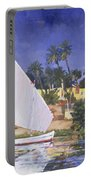 Egypt Blue Portable Battery Charger by Clive Metcalfe