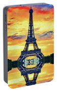 Eifel Tower In Paris Portable Battery Charger