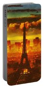Eifel Tower2 Fragmented Portable Battery Charger