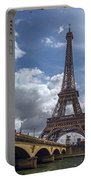 Eiffel Tower And Pont D'lena Portable Battery Charger