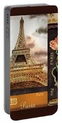 Eiffel Tower And Roses Portable Battery Charger