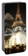 Eiffel Tower At Night Portable Battery Charger
