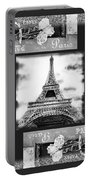 Eiffel Tower In Black And White Design I Portable Battery Charger