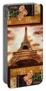 Eiffel Tower Roses Dance Portable Battery Charger
