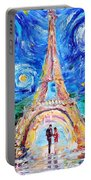 Eiffel Tower Starry Night Romance Portable Battery Charger