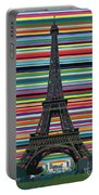 Eiffel Tower With Lines Portable Battery Charger by Carla Bank