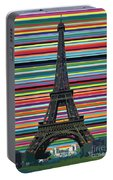 Eiffel Tower With Lines Portable Battery Charger